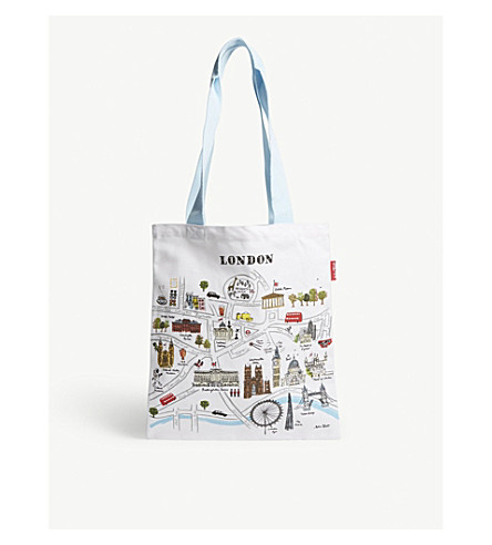 LONDON Ldn london map cotton tote bag