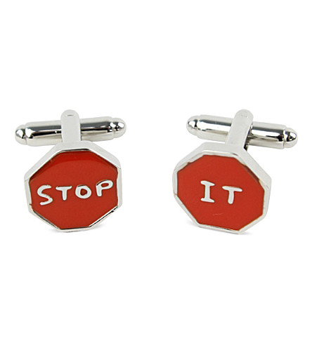 THIRD DRAW DOWN STUDIO Stop It cufflinks