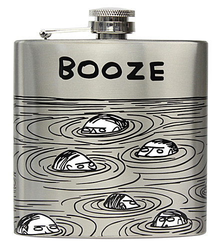 THIRD DRAW DOWN STUDIO Booze stainless steel hip flask