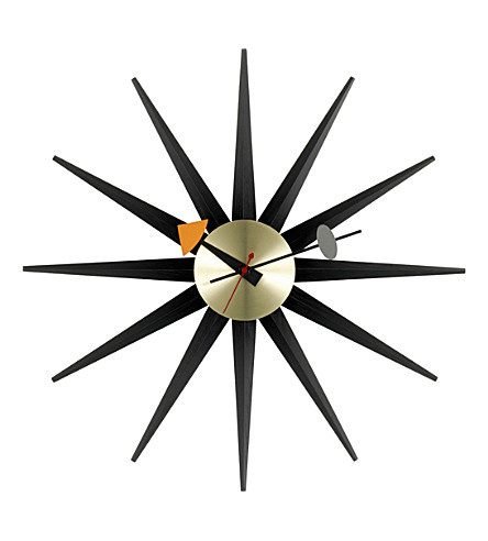 VITRA Sunburst wooden clock