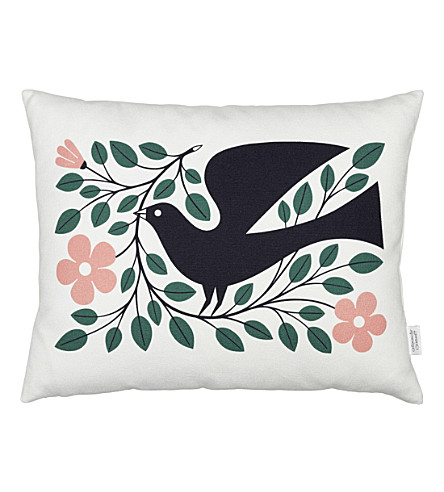 VITRA Dove graphic printed pillow