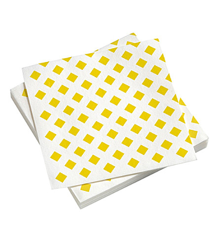 VITRA La Fonda checked paper napkins