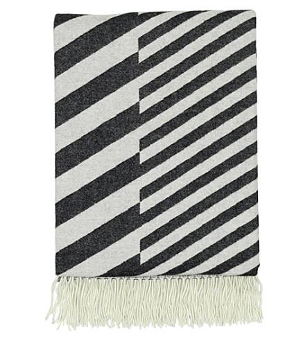 VITRA Diagonal-jacquard wool blanket