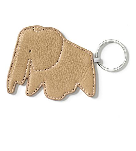 VITRA Elephant leather keyring