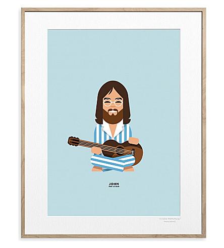 IMAGE REPUBLIC John Lennon Peacemarkers print 40x30cm