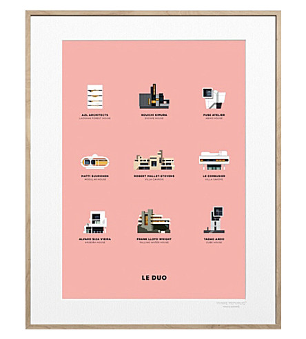 IMAGE REPUBLIC Le Duo Architecture print 40x50cm