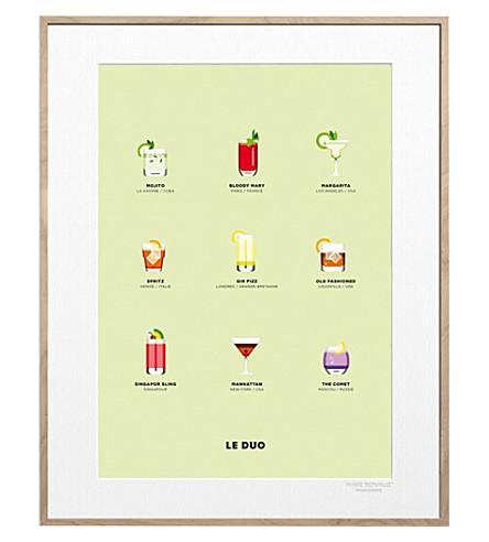 IMAGE REPUBLIC Le Duo Cocktails print 40x50cm