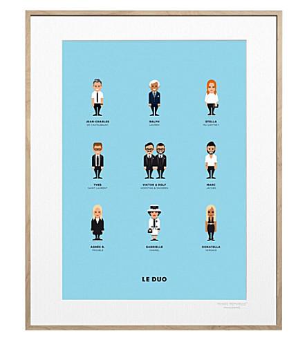 IMAGE REPUBLIC Le Duo Createurs 2 print 40x50cm