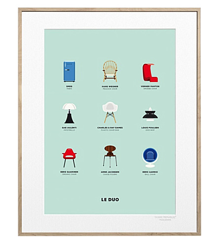 IMAGE REPUBLIC Le Duo Design print 40x50cm