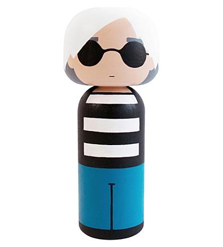 LUCIE KAAS Sketch Inc Andy Warhol wooden kokeshi dol