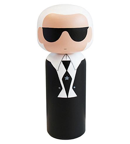 LUCIE KAAS Sketch Inc Karl Lagerfeld wooden kokeshi dol