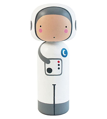 LUCIE KAAS Sketch Inc Spaceman kokeshi doll