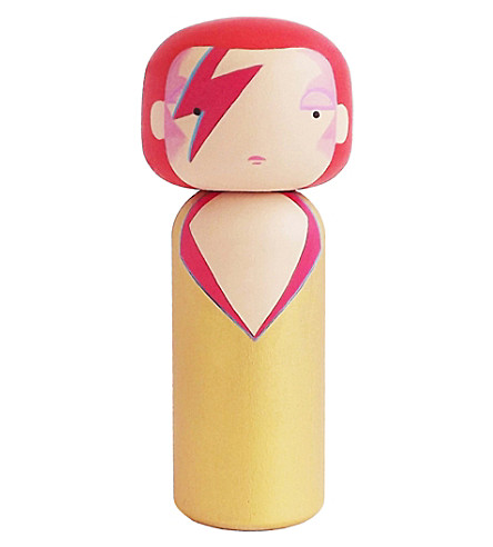 LUCIE KAAS Sketch Inc Ziggy Stardust wooden kokeshi dol