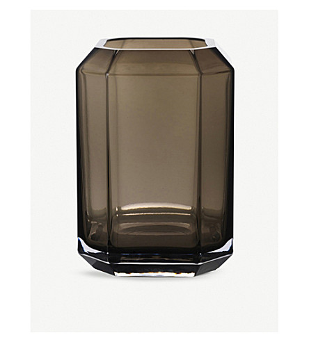 LOUISE ROE Jewel glass vase 20cm