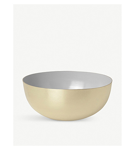 LOUISE ROE Two-tone brass and enamel bowl 8cm