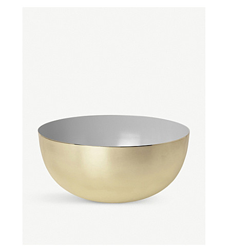 LOUISE ROE Two-tone brass and enamel bowl 14cm