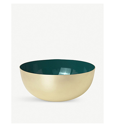 LOUISE ROE Brass and enamel bowl 18cm