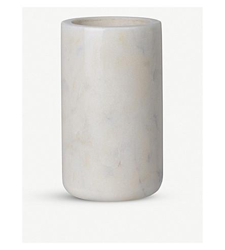 LOUISE ROE Mia white marble vase 12.5cm