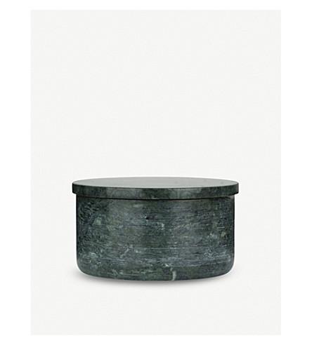 LOUISE ROE Ganni green marble pot 7cm