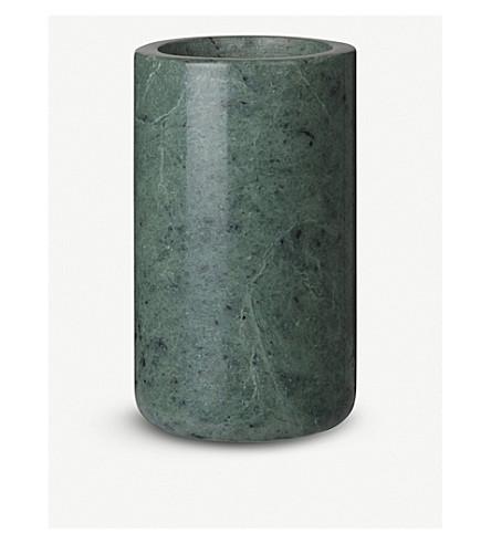 LOUISE ROE Gaby green marble vase 7cm