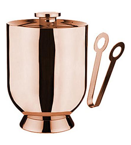 NICK MUNRO Trombone stainless steel ice bucket and tongs