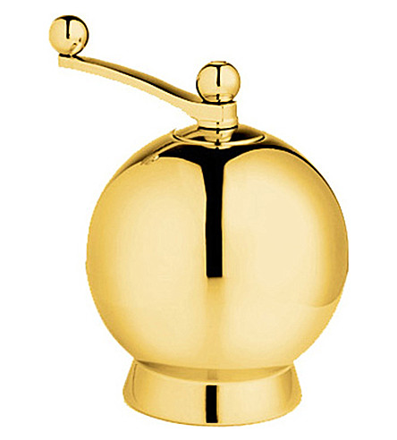 NICK MUNRO Spheres gold-plated pepper mill