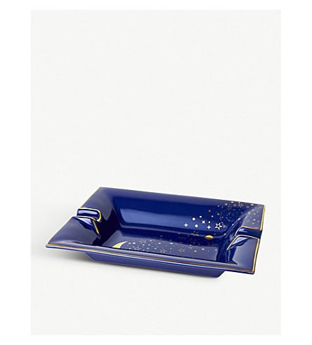 CASACARTA Luna 22ct gold screen-printed porcelain ashtray 20cm x 16cm