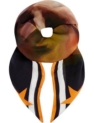 GIVENCHY Blur print scarf