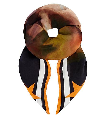 GIVENCHY Blur print scarf (Multi