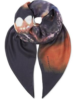 GIVENCHY Wool-cashmere doberman scarf
