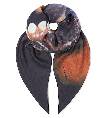 GIVENCHY Wool-cashmere doberman scarf (Multi