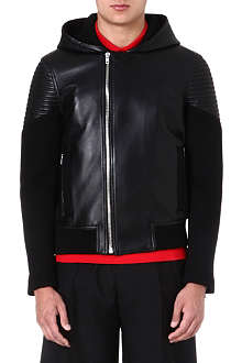GIVENCHY Hooded leather bomber jacket