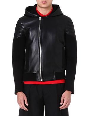 GIVENCHY Hooded leather bomber jacket