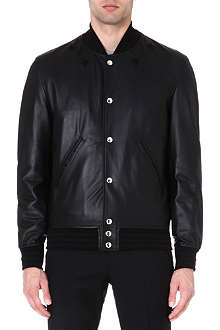 GIVENCHY Star-detail leather bomber jacket