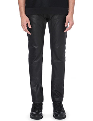 GIVENCHY Zip-waist leather trousers