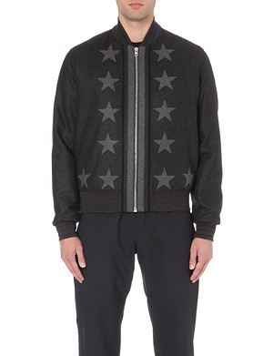 GIVENCHY Star-detailed wool bomber jacket