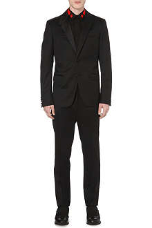 GIVENCHY Satin-lapel wool suit
