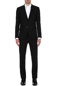 GIVENCHY Abstract-lapel single-breasted suit