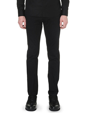 GIVENCHY Zip-detail cotton trousers