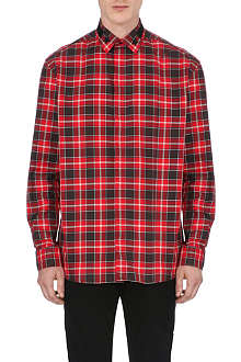 GIVENCHY Star-collar check shirt