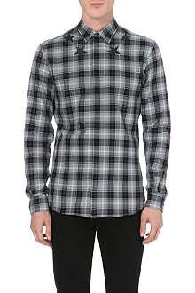 GIVENCHY Star-detail check shirt