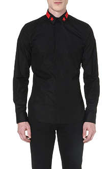 GIVENCHY Star stripe-collar shirt
