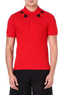 GIVENCHY Star-appliqué polo shirt