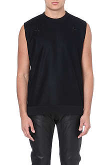 GIVENCHY Star-embroidered sleeveless sweatshirt