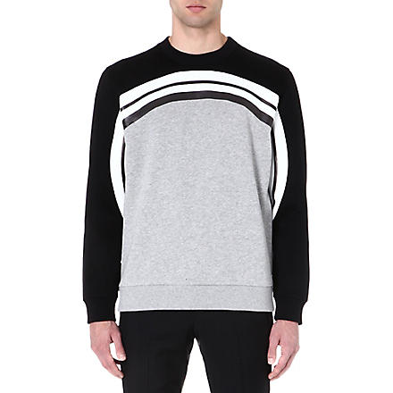 GIVENCHY Monochrome Rainbow sweatshirt (Grey/black