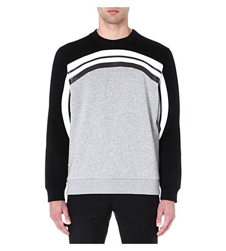 GIVENCHY Monochrome Rainbow sweatshirt (Grey/black