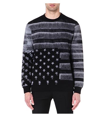 GIVENCHY American Flag sweatshirt (Black