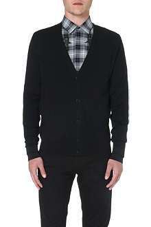 GIVENCHY Striped-cuff wool cardigan