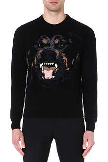 GIVENCHY Rottweiler wool jumper