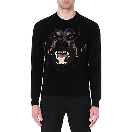 GIVENCHY Rottweiler wool jumper (Black